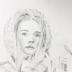 """""""Erinnerungen an Island"""" Bleistift auf Papier,"""